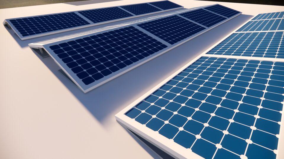 3D simulatie opstelling zonnepanelen
